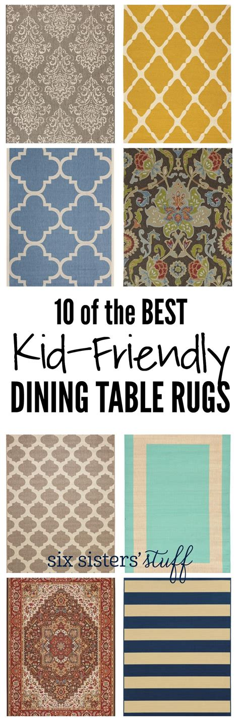10 of the best kid friendly dining table rugs on