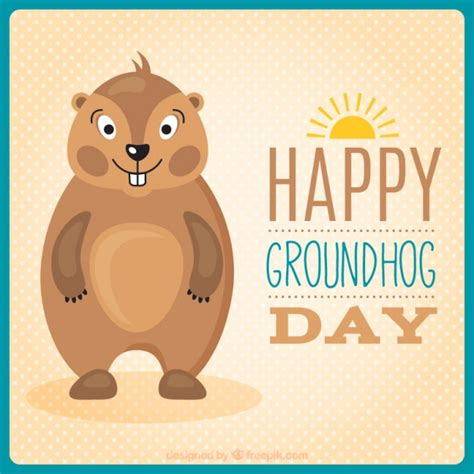 the groundhog day for free lovely groundhog in groundhog day vector free
