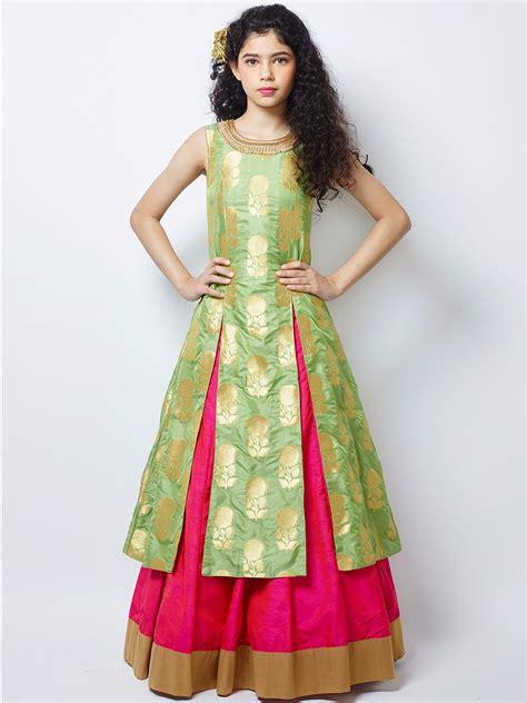 kids girls exclusive designs gowns lehnga suits lacha g3 exclusive cream wedding wear silk lehenga choli 3