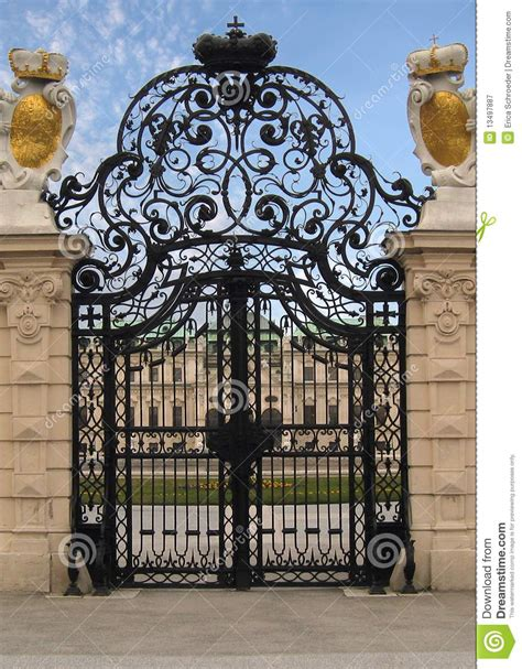 Open Balcony Design fancy royal estate gate royalty free stock photography