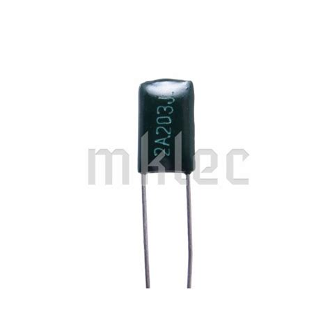 polyester capacitor codes 20nf 0 02uf polyester capacitor 203