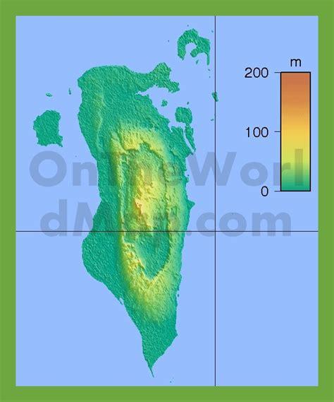 physical map of bahrain physical map of bahrain