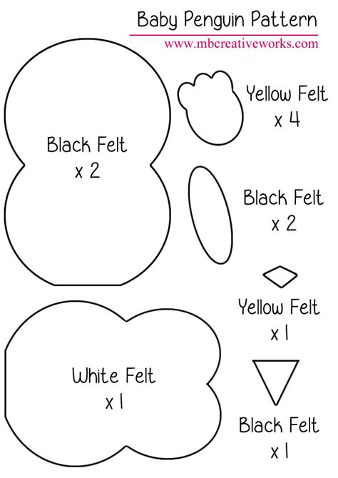 free felt templates best photos of free penguin template printable penguin