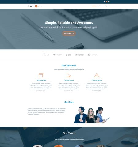 wordpress theme one page layout 30 best free one page wordpress themes in 2018