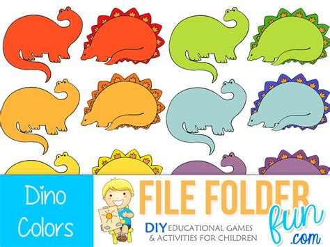 what color are dinosaurs dinosaur color match file folder