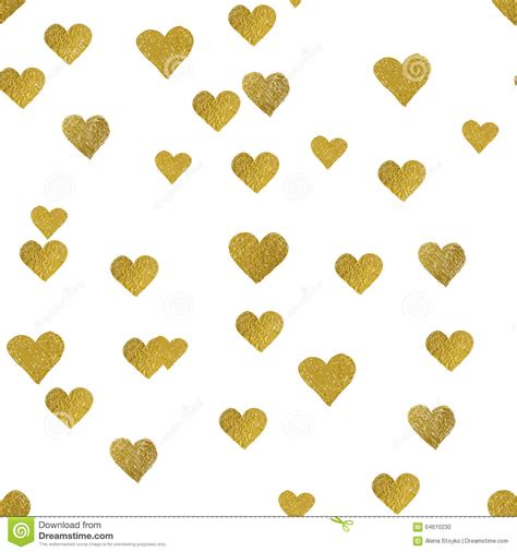 gold heart pattern wallpaper gold hearts on white background seamless pattern stock