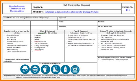 construction statement of work template method statement template for construction image