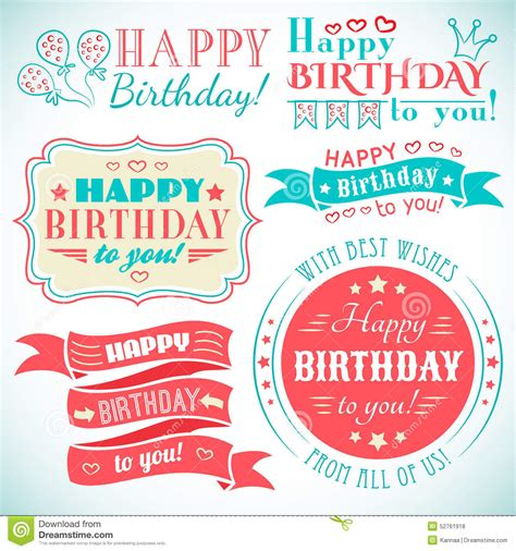 typography greeting cards happy birthday greeting card collection in stock