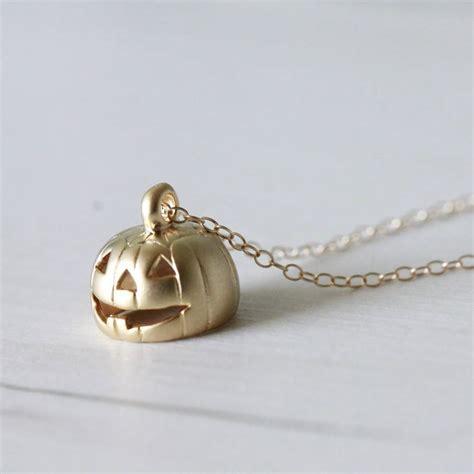 pumpkin pendant necklace by attic