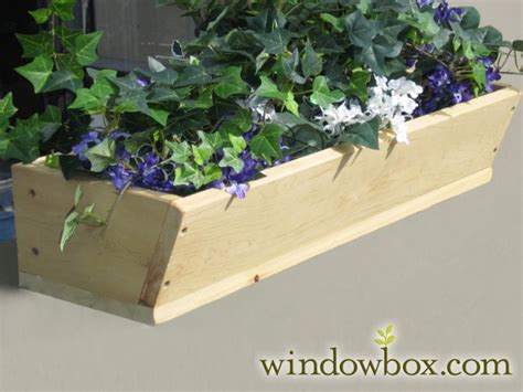 Wood Window Planter Boxes by Tapered Cedar Wood Window Box Including Mounting Bracket