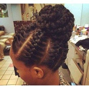 latest cornrow braids updo hairstyles for black women 2016