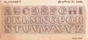 leather alphabet pattern