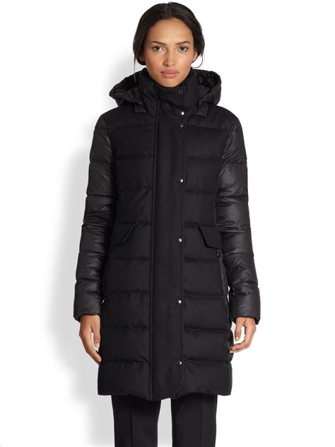 Quilted Wool Coat by Akris Punto Quilted Downfilled Wool Coat In Black Lyst