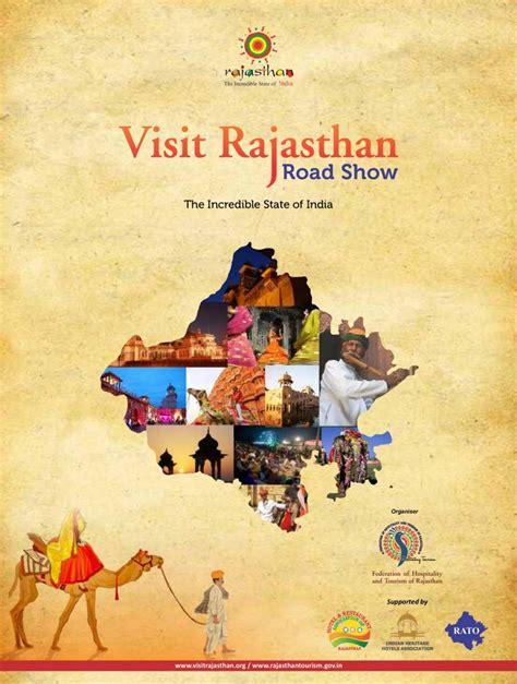 road show brochure visit rajasthan