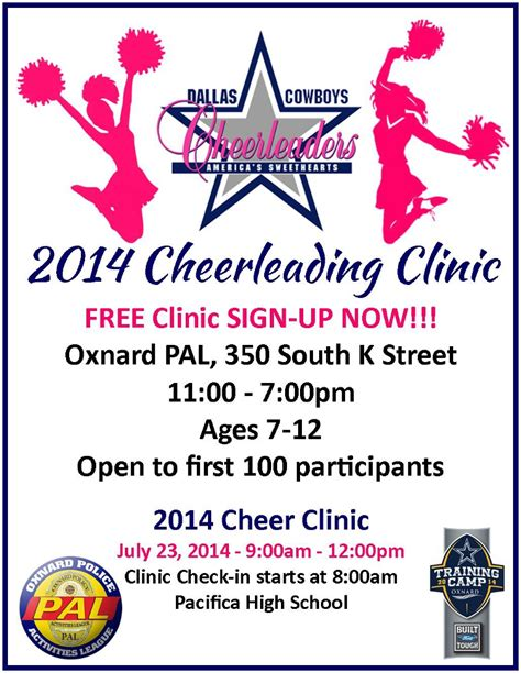 Oxnard Police Activities League Free Cheerleading Tryout Flyer Template