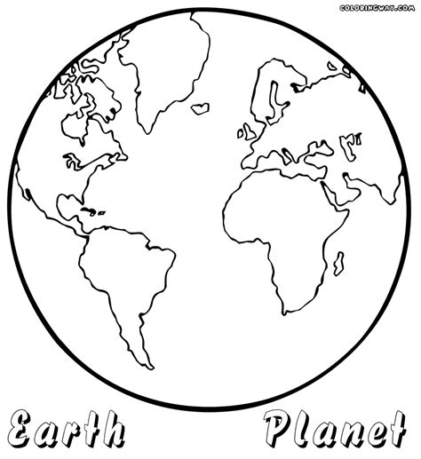 coloring page the earth planet coloring pages coloring pages to download and print