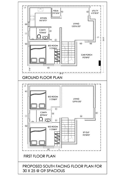 south facing house plan south facing house plans 30 x 60