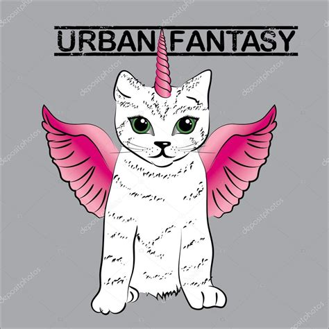 imagenes de gatos unicornios městsk 233 fantasy roztomil 253 jednorožec kočka stock vektor