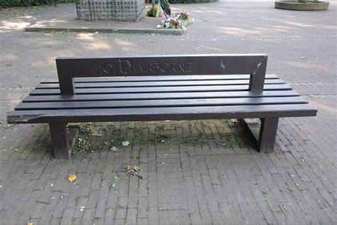 benches on division bench to the memory of 101st airborne division son son