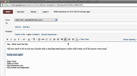 format email in gmail paste text format free in gmail and chrome youtube