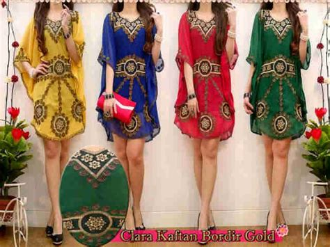 Supplier Baju Clara Maxy Hq 1 bintang shop clara kaftan bordir gold rp95 000 min 4
