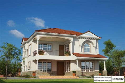 4 Bedroom Mediterranean House Plans by Four Bedrooms Mediterranean House Design Id 24302