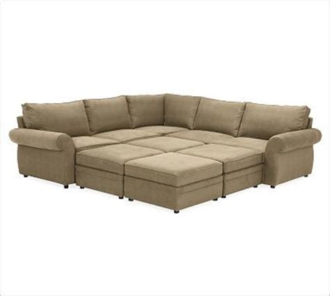 Pit Sectional Sofas by Pearce Upholstered 6 Pit Sectional Chunky