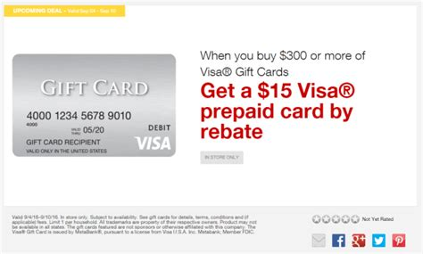 How Much Money Is On My Visa Gift Card - staples easy rebate on visa gift cards september 4 10 2016