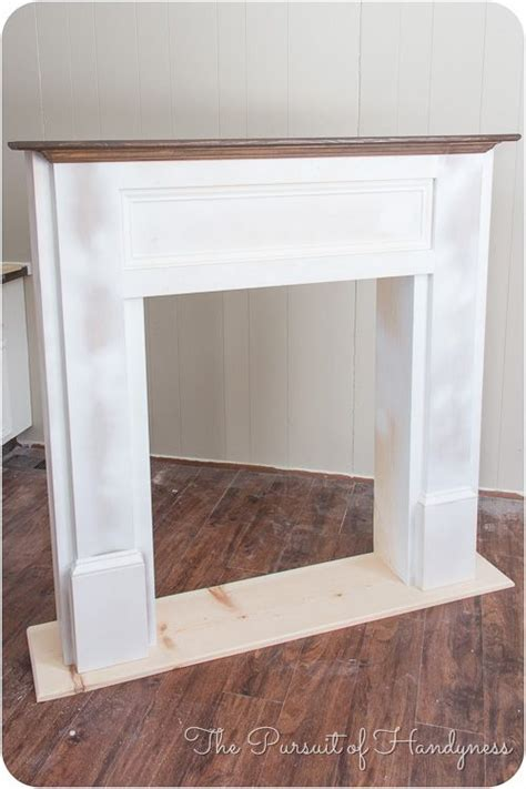 faux fireplace mantel diy woodworking projects plans