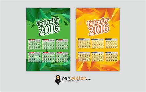 tutorial design kalender calendar 2016 template vector design free vector