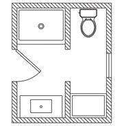 5x7 bathroom floor plans beautiful 5x7 bathroom layout bathroom pinterest 5x7