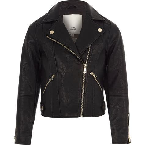 Faux Leather Jacket black faux leather biker jacket jackets coats