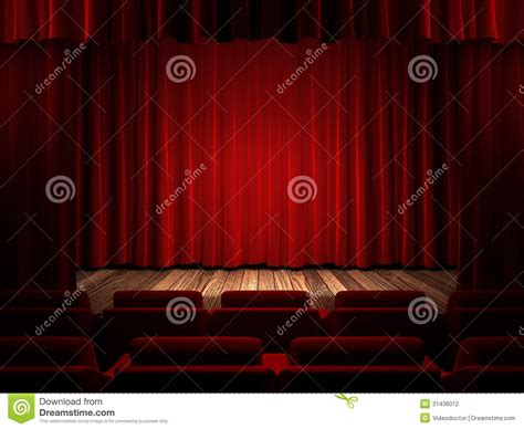 theatre curtain material red fabric curtain stock photography image 31436012