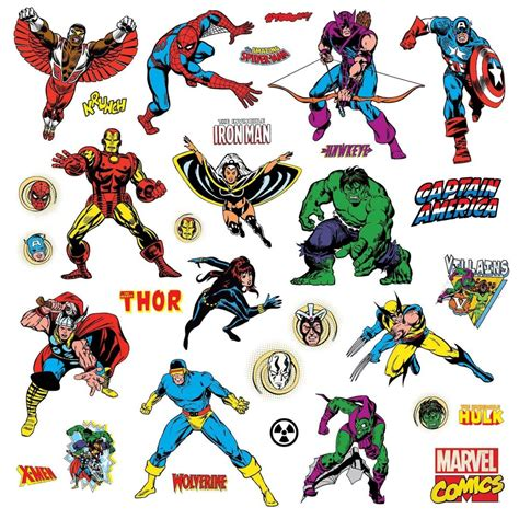 How To Decorate Small Home Comic Book Avengers Giant Stickers Great Kidsbedrooms