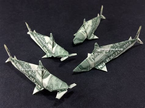 Dollar Origami Shark - pin by faith combs on shark l ve