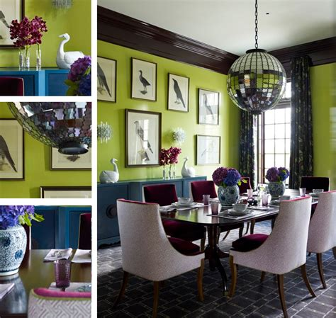 modern chic dining room blue green teal ourple modern chic dining room