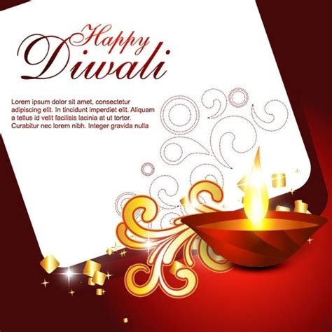 Diwali Card Templates Free by Beautiful Diwali Cards 06 Vector Free Vector In