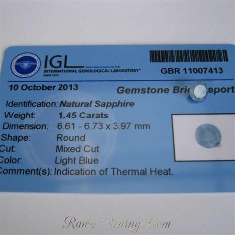 Sapphire Sri Lanka Memo Ring safir srilanka 1 45 carats memo igl harga promo