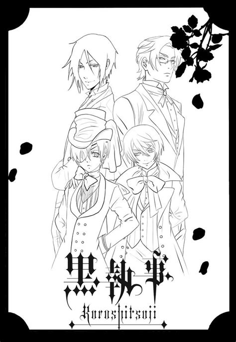 17 best images about black butler coloring pages on