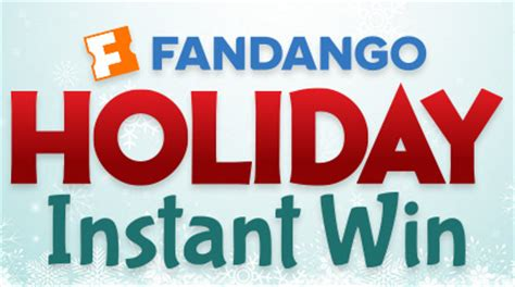 Win Free Stuff Online Instantly - fandango holiday instant win game free sles 2 fill up
