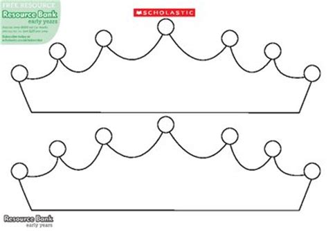printable children s crown template crown template free early years teaching resource