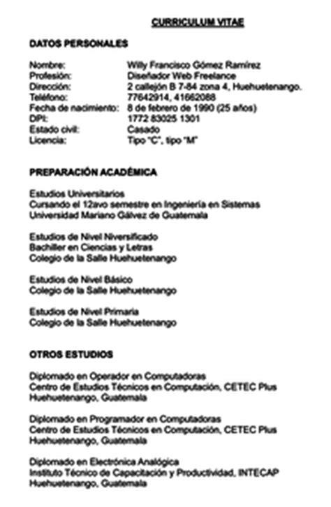 Modelo Curricular Guatemalteco Curriculum Vitae La Enciclopedia Libre