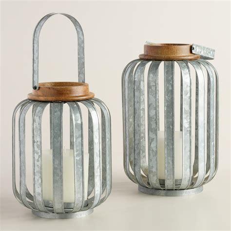 galvanized metal strip lantern world market
