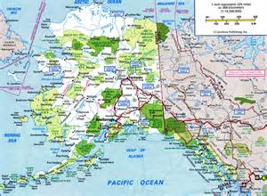 road map alaska usa alaska highway