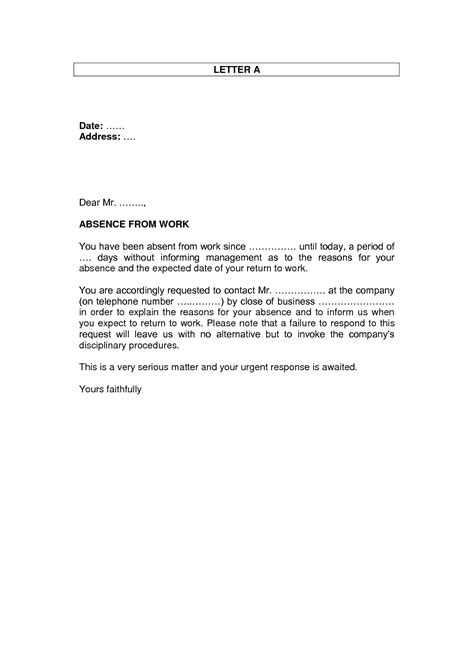 Explanation Letter Absent Without Notice Resignation Letter Format Top Letter Of Resignation For