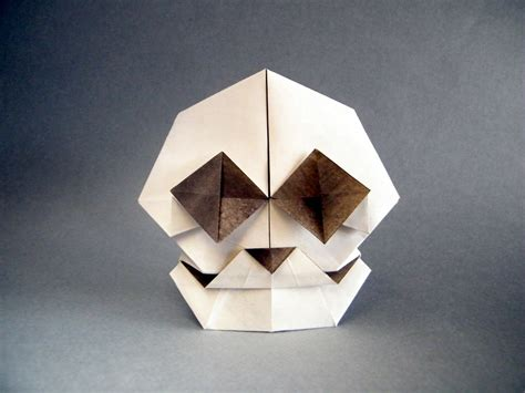 Origami Skull - this week in origami 2015 edition