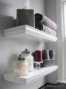 Bathroom Shelves Decorating Ideas by Bathroom Shelf Decor On Pinterest Small Bathroom