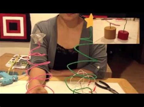 como hacer un arbol de navidad de alambre youtube