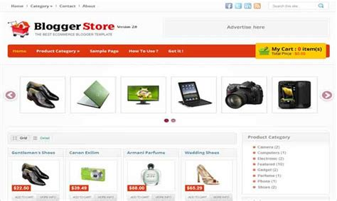 blogger store template 20 koleksi template toko online gratis download blog