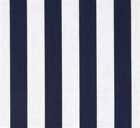 White Strif Navy navy blue white stripe indoor outdoor fabric by the yard